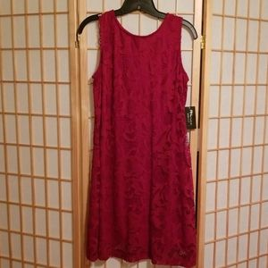 RN Studio sleeveless lace dress